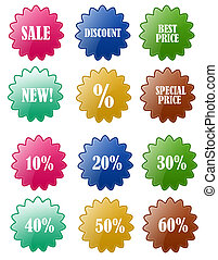 Sale Discount Badge Sets