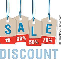 Sale  discount labels set