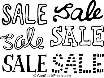 sale doodle design element