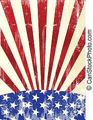 sale, drapeau américain