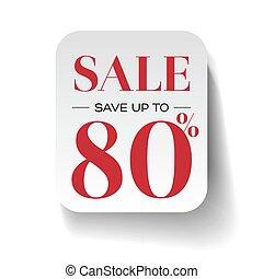 Sale eighty percent label