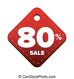 Sale eighty percent pricetag red