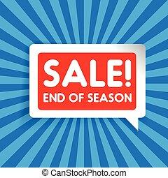 Sale - End of season label vector