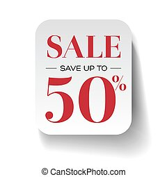 Sale fifty percent label