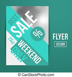 Sale flyer - Abstract Vector Creative Sale Flyers, can be...