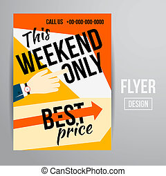 Sale flyer - Abstract Vector Creative Sale Flyers, can be ...