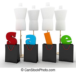 Sale for a clothing