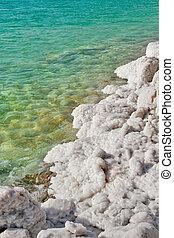 sale, formazioni, su, mare morto, in, israel.
