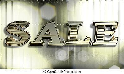 Sale Gold 3D Text
