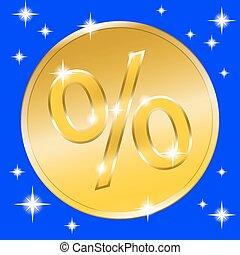 sale gold button