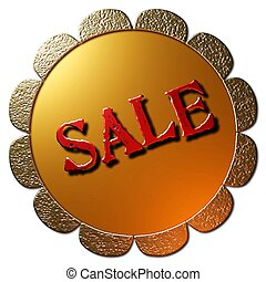 Sale (Golden Seal Red Lettering)
