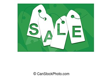 Sale green elements