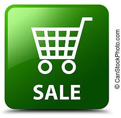 Sale green square button