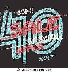 Sale grunge vintage poster