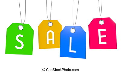 Sale hangtags - 3D rendering/ 3D animation