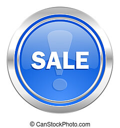 sale icon, blue button