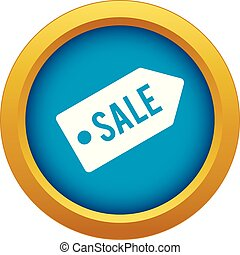 Sale icon blue vector isolated