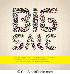 sale icon - illustration of sale label, with animal print...