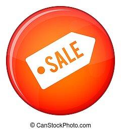 Sale icon, flat style