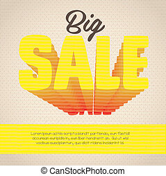 sale icon - illustration of sale label, with colorful 3d...