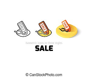 Sale icon in different style