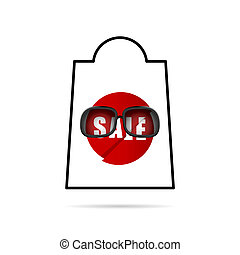 sale icon in red color illustration