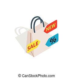 Sale icon, isometric 3d style