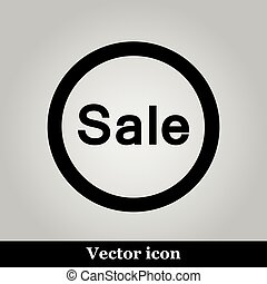 Sale icon on grey background