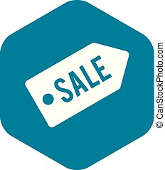 Sale icon, simple style
