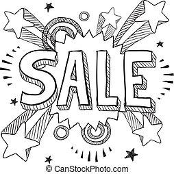 Sale icon sketch
