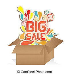 sale icons - illustration of sale label, with colorful drops...