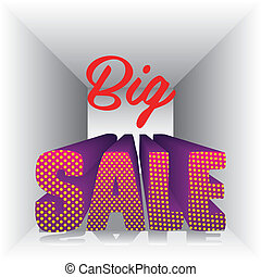 sale icons - illustration of sale labels, with colorful 3D...