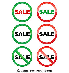 Sale icons set