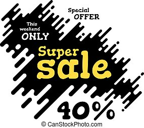 Sale illustration with rounded lines background