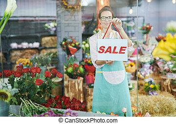 SALE in Flower Shop