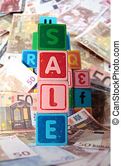 sale in toy play block letters