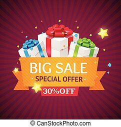 Sale Label Background. Vector