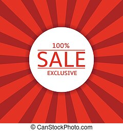Sale label on red background