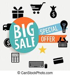 Sale label price tag design. Vector illustration