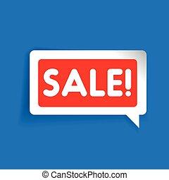 Sale label speech bubble