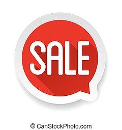 Sale label vector buble