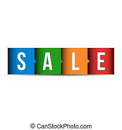 Sale label vector lettering