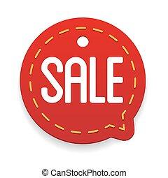Sale label vector tag