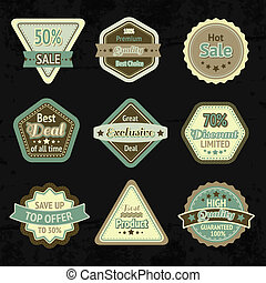 Sale labels and badges design set