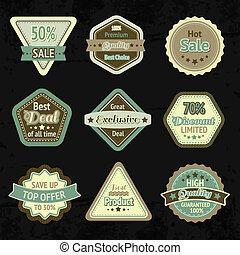 Sale labels and badges design set