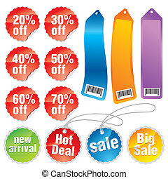Sale Labels, Discount Tags
