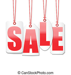 sale labels price tag design set vector
