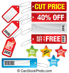 Sale Labels, Price Tags