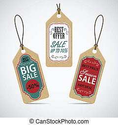 Sale labels set.