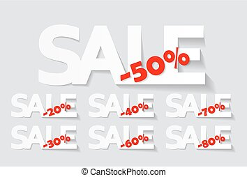 Sale Labels Set . Vector Illustration